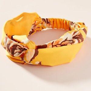 Anthropologie Briony floral twist headband
